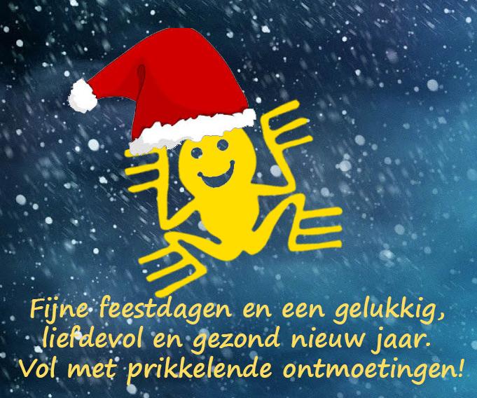 Fijne feestdagen geel