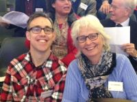 Bram Frauenfelder met Erna Veenvliet, adviseur cliëntparticipatie bij Estinea